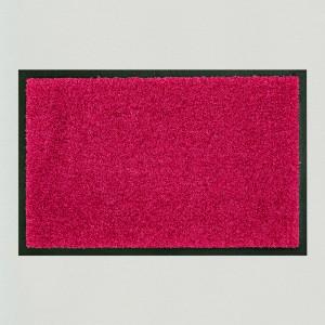 Fußmatte einfarbig fuchsia waschbar Gesamtansicht