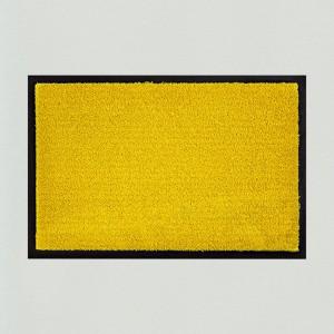 Fußmatte uni gelb waschbar Gesamtansicht