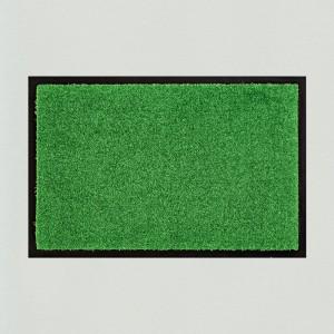Fußmatte einfarbig grün waschbar Gesamtansicht