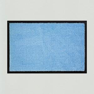Fußmatte uni hellblau waschbart für innen und außen Gesamtansicht