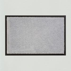 Fußmatte uni hellgrau  waschbar für innen und außen Gesamtansicht