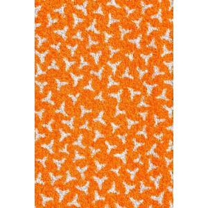 Schmutzfangmatte Fußmatte Hellorange waschbar