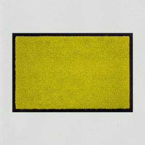 Fußmatte einfarbig lindgrün waschbar Gesamtansicht