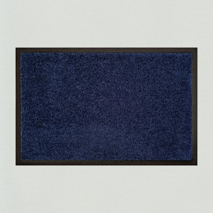 Fußmatte uni marineblau waschbar für innen und außen Gesamtansicht