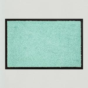 Fußmatte einfarbig minze waschbar Gesamtansicht
