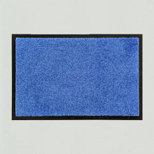 Fußmatte uni mittelblau waschbar innen und außen Gesamtansicht