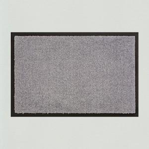 Fußmatte mittelgrau einfarbig waschbar für innen und außen Gesamtansicht