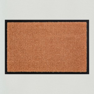 Fußmatte einfarbig mocca waschbar Gesamtansicht
