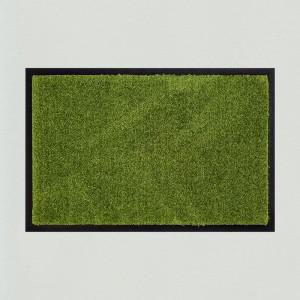 Fußmatte einfarbig moosgrün waschbar Gesamtansicht