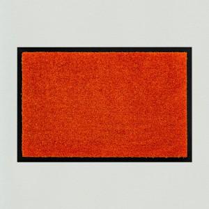 Fußmatte uni orange waschbar für innen und außen Gesamtansicht