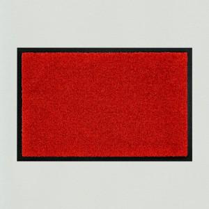 Fußmatte uni rot waschbar für innen und außen Gesamtansicht