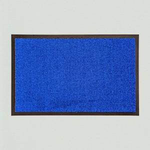 Fußmatte uni royalblau waschbar für innen und außen Gesamtansicht
