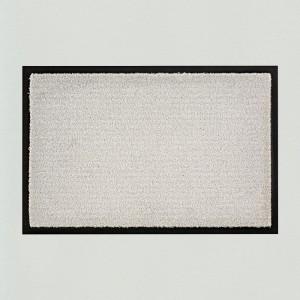 Fußmatte uni silbergrau waschbar für innen und außen Gesamtansicht