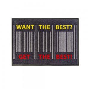 """Fußmatte """"get the best""""  85x115cm mit Trittrand Sonderposten"""