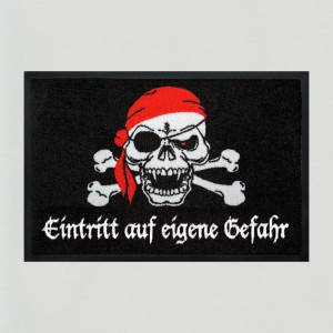 Fußmatte Totenkopf Pirat
