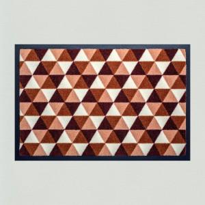 Fußmatte Dreiecke braun