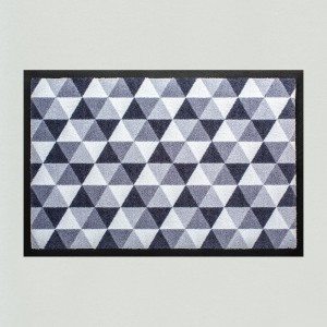 Fußmatte Dreiecke grau