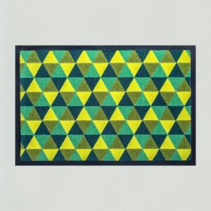 Fußmatte Dreiecke grün