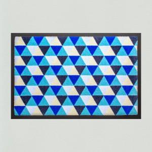 Fußmatte Dreiecke hellblau