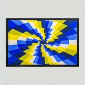 Fußmatte Propeller blau-gelb