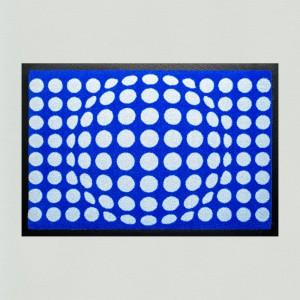 Fußmatte Punkte blau