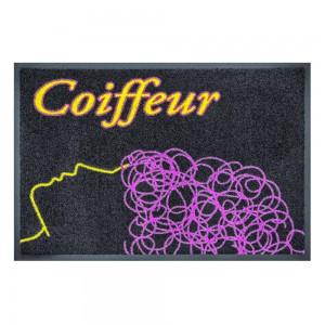 Fußmatte Coiffeur schwarz 60x85cm mit Trittrand (Restposten)