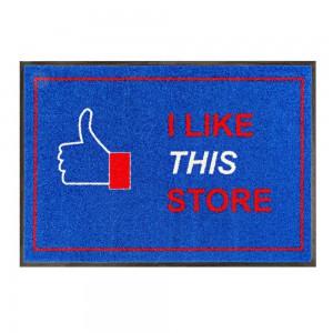 """Fußmatte """"I like this store"""" 85x115cm mit Trittrand (Restposten)"""