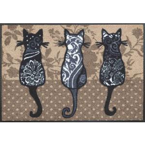 Fußmatte Katzenbande waschbar Detailansicht