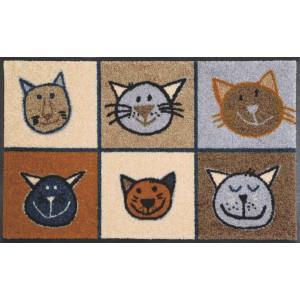 Fußmatte Miau Miau waschbar Detailansicht