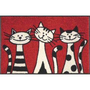 Fußmatte Three Cats waschbar Detailansicht