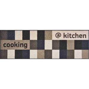 Küchenläufer @ Kitchen Brownish waschbar Detailansicht