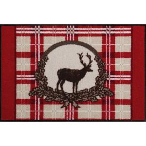 Schmutzfangmatte Salonlöwe Weihnachtsmotiv waschbar Red Deer