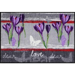 Schmutzfangmatte Sweet Love lilac waschbar Salonlöwe