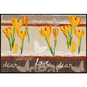 Schmutzfangmatte Sweet Love yellow waschbar Salonlöwe