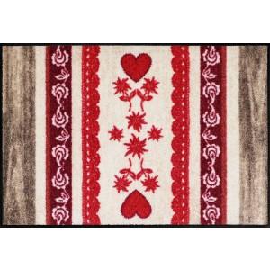 Schmutzfangmatte waschbar Salonlöwe Heart Wood