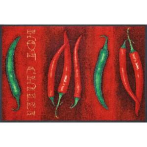 Fußmatte Hot Chili waschbar Detailansicht