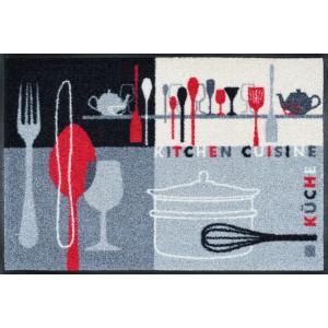 Fußmatte Kitchen Crockery waschbar Detailansicht