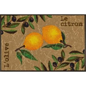 Fußmatte Le Citron waschbar Detailansicht