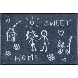 Fußmatte Sweet Home waschbar Detailansicht