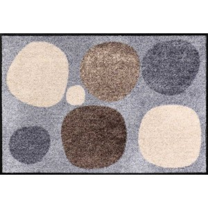 Schmutzfangmatte Broken Dots nature waschbar Salonlöwe Fußmatte