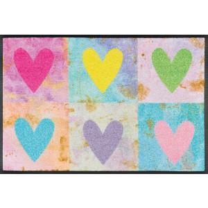 wash+dry Fußmatte Candy Hearts waschbar Detailansicht