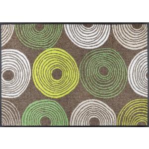 Fußmatte wash+dry Cyclone Taupe waschbar Detailansicht