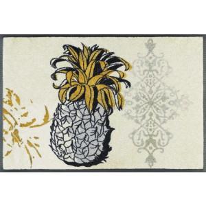 wash+dry Fußmatte Golden Pineapple waschbar Detailansicht