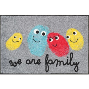 wash+dry Fußmatte Happy Family waschbar Detailansicht