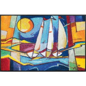 wash+dry Fußmatte Sailing Home waschbar Detailansicht