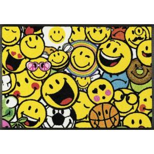 Teppich Kinderzimmer wash+dry Smiley Allover waschbar Detailansicht