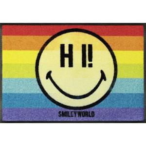 Teppich Kinderzimmer wash+dry Smiley Rainbow waschbar Detailansicht