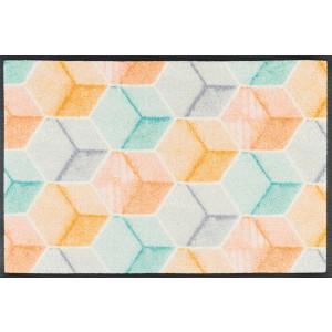 wash+dry Fußmatte Soft Cubes waschbar Detailansicht