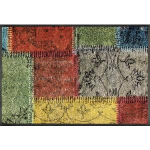 Fußmatte wash+dry Vintage Patches waschbar Detailansicht