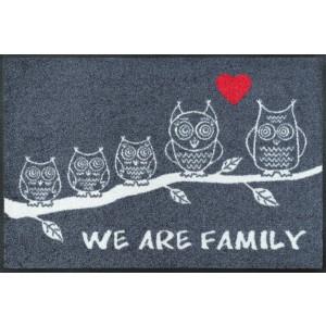 Fußmatte We are Family waschbar Detailansicht